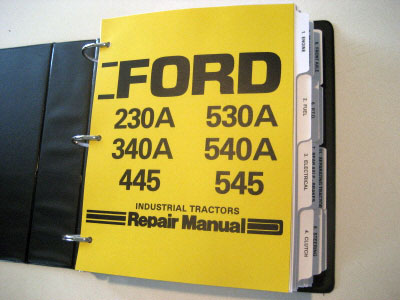 545 ford tractor wiring diagram 545 image wiring ford 230a 340a 445 530a 540a 545 tractor service manual repair on 545 ford tractor wiring