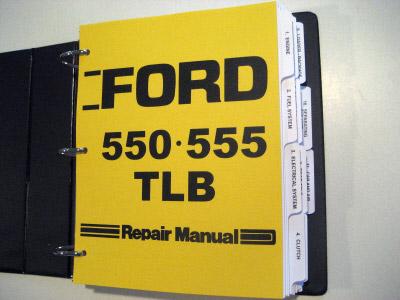Ford 550 555 Tractor Loader Backhoe TLB Service Manual